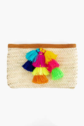 French Baskets Hayley Pom Pom Clutch