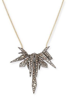 Alexis Bittar Two-Tone Spike Crystal Pendant Necklace $255 thestylecure.com