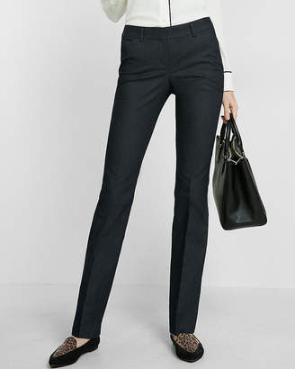 Express Low Rise Denim Barely Boot Editor Pant