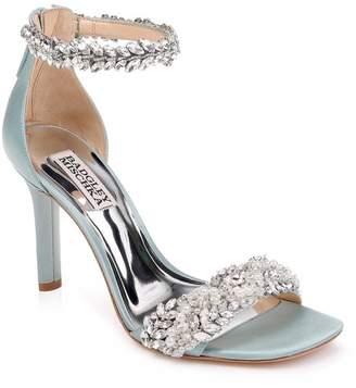 Badgley Mischka Fiorenza Crystal & Imitation Pearl Embellished Sandal