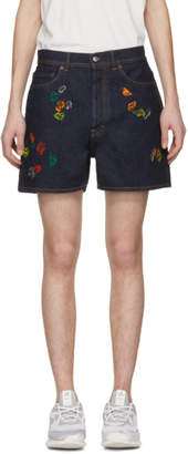 Acne Studios Bla Konst Blue Canoe Gum Shorts