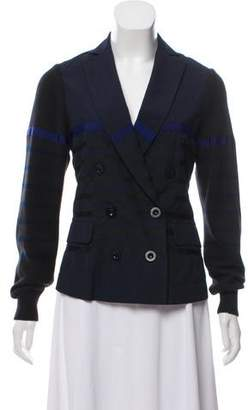 Sacai Luck Double-Breasted Striped Blazer