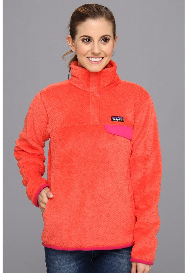 Patagonia Re-Tool Snap-T Pullover (Red Delicious/Wax Red X-Dye) - Apparel