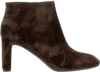Roberto Del Carlo Brown Suede Ankle Boots