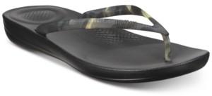 FitFlop Iqushion Tortoiseshell-Effect Flip-Flop Sandals Women's Shoes