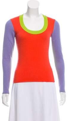 Magaschoni Cashmere Tricolor Sweater
