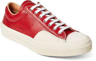 Dries Van Noten Red & Off-White Leather Low-Top Sneakers