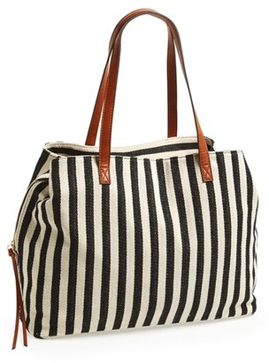 Sole Society 'Oversize Millie' Stripe Print Tote $64.95 thestylecure.com