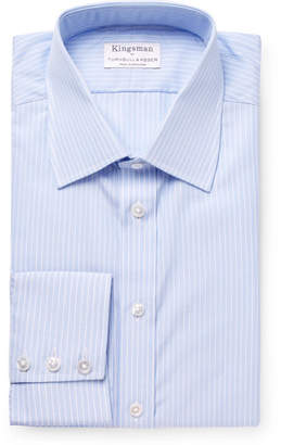 Turnbull & Asser Kingsman + Light-Blue Slim-Fit Striped Cotton Shirt