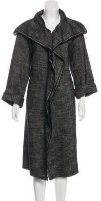 Lanvin Long Wool-Blend Coat