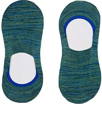 Barneys New York Men's Mélange Stretch Cotton-Blend No-Show Socks