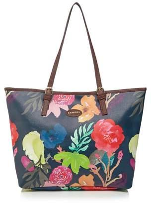Kangol Navy Floral Print Tote Bag