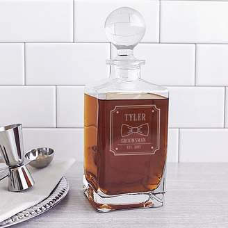 Cathy's Concepts Cathys Concepts Personalized Groomsman Bow Tie 32 Oz. Whiskey Decanter