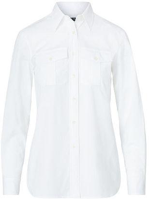 Ralph Lauren Lauren Cotton Broadcloth Shirt $79.50 thestylecure.com