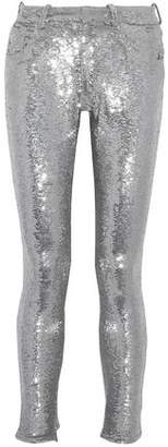 IRO Sequinned Stretch-Knit Skinny Pants