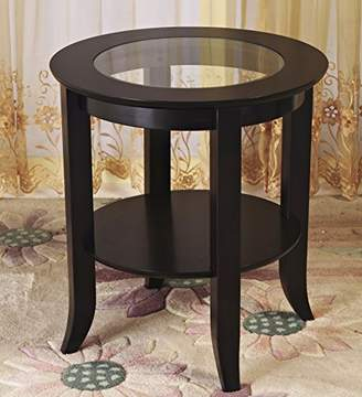 Frenchi Furniture-Wood Genoa End Table