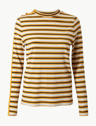 Marks and Spencer Striped Round Neck Long Sleeve T-Shirt