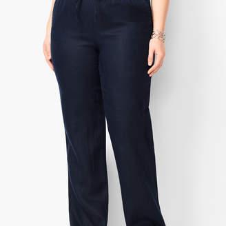 Talbots Washed Linen Wide-Leg Pants