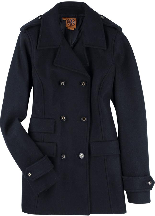Tory Burch Felted pea coat