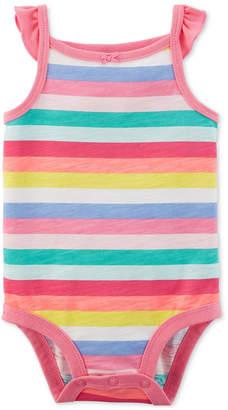 Carter's Baby Girls Striped Cotton Bodysuit