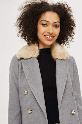 Petite nancy faux fur coat