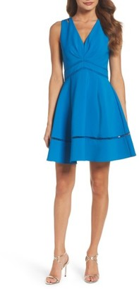 Women's Adelyn Rae Fit & Flare Dress $99 thestylecure.com