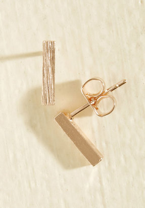 ModCloth Model of Minimalism Earrings in Rose Gold $12.99 thestylecure.com