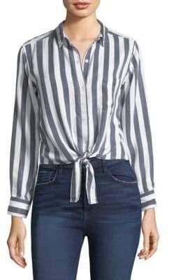 Rails Val Stripe Tie-Front Shirt
