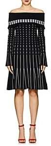 Prabal Gurung Women's Compact Knit Off-The-Shoulder Dress-Black, White