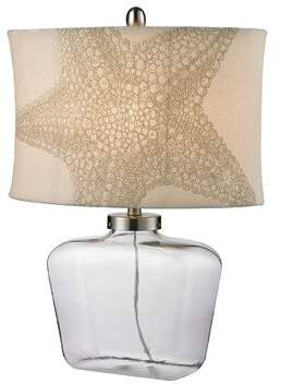 """Rosecliff Heights Dimas Glass Bottle 26"""" Table Lamp Rosecliff Heights"""
