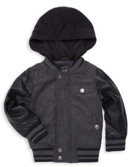 Urban Republic Baby Boy's, Little Boy's & Boy's Faux Leather-Sleeve Bomber Jacket
