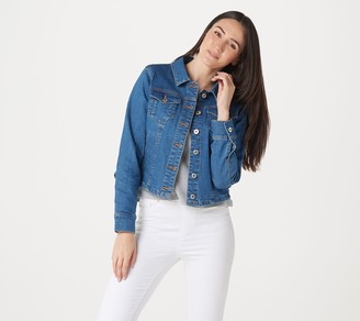 Du Jour Denim Jacket with Ruffle Back Detail
