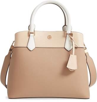 3990a655ec4 Tory Burch Robinson Colorblock Leather Triple Compartment Bag