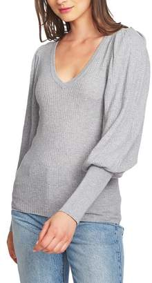 1 STATE 1.STATE Blouson Sleeve Textured Sweater