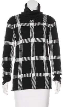 Barbara Bui Checkered Turtleneck Sweater