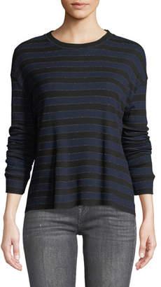 RtA Emmet Long-Sleeve Striped Tee