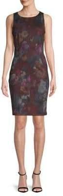 Lori Michaels Floral Sleeveless Sheath Dress