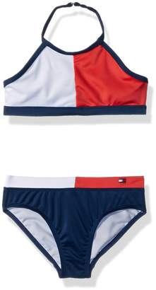 Tommy Hilfiger Big Girls' Two-Piece Swimsuit