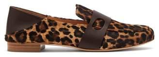 Rupert Sanderson Calf Hair Leopard Print Loafers - Womens - Leopard