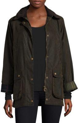 Barbour Acorn Wax Cotton Jacket $349 thestylecure.com
