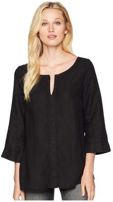 Three Dots Woven Linen Tunic Women's Clothing
