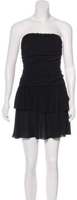 Celine Silk Strapless Dress
