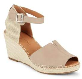 Kenneth Cole Gentle Souls by Charli Leather Espadrille Wedge Sandals