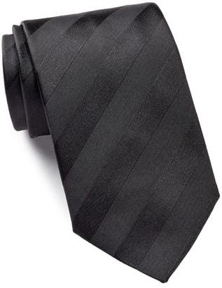 HUGO BOSS Silk Tonal Diagonal Stripes Tie $95 thestylecure.com