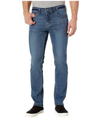 0034f348 Perry Ellis Slim Fit Light Wash Stretch Denim Pants in Medium Indigo