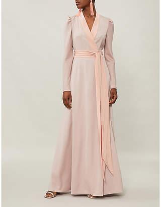 Diane von Furstenberg Wrap-over woven maxi dress