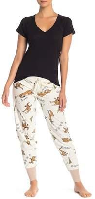 PJ Salvage Banded Moose Print Pajama Pants