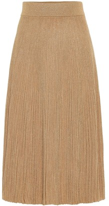 Marni Metallic wool-blend midi skirt