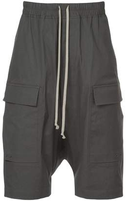 Rick Owens drop crotch cargo shorts