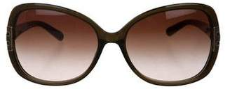 Tory Burch Round Gradient Sunglasses
